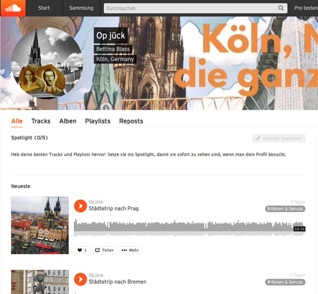 Op jück auf Soundcloud