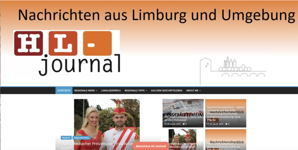 Screenshot HL-journal
