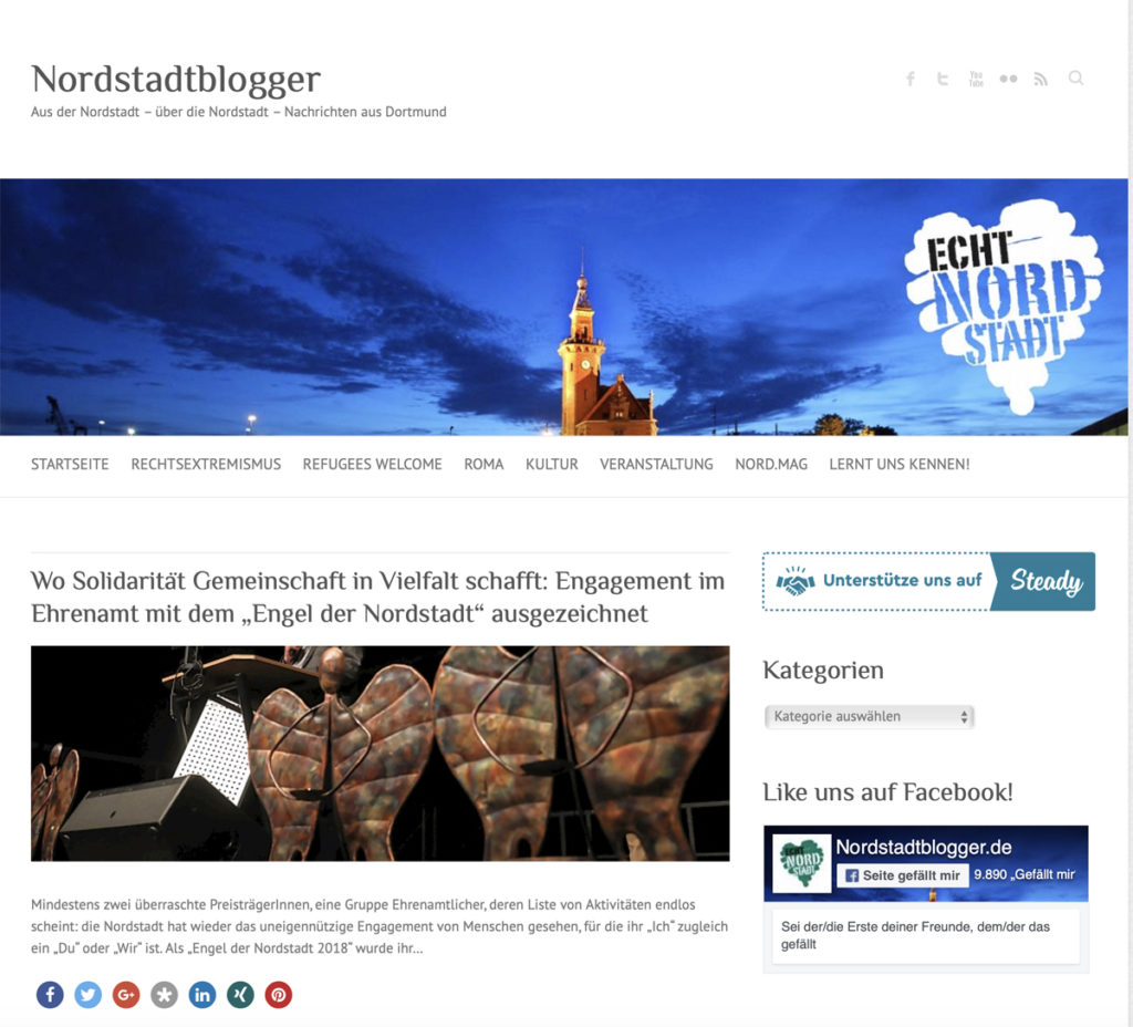 Screenshot Nordstadtblogger
